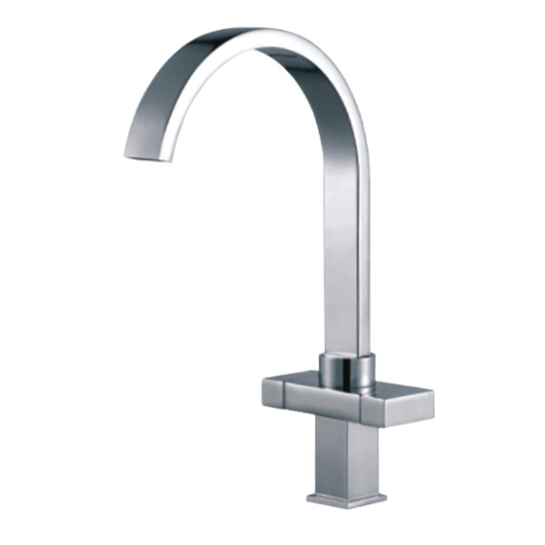 Modern Kitchen Sink Mixer Tap, Chrome, Satin, Brushed, Pull out ...